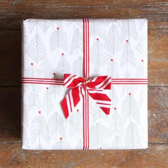 The perfect Scandi style wrapping paper to use under your Christmas tree, if you're going for a Nordic style this year.