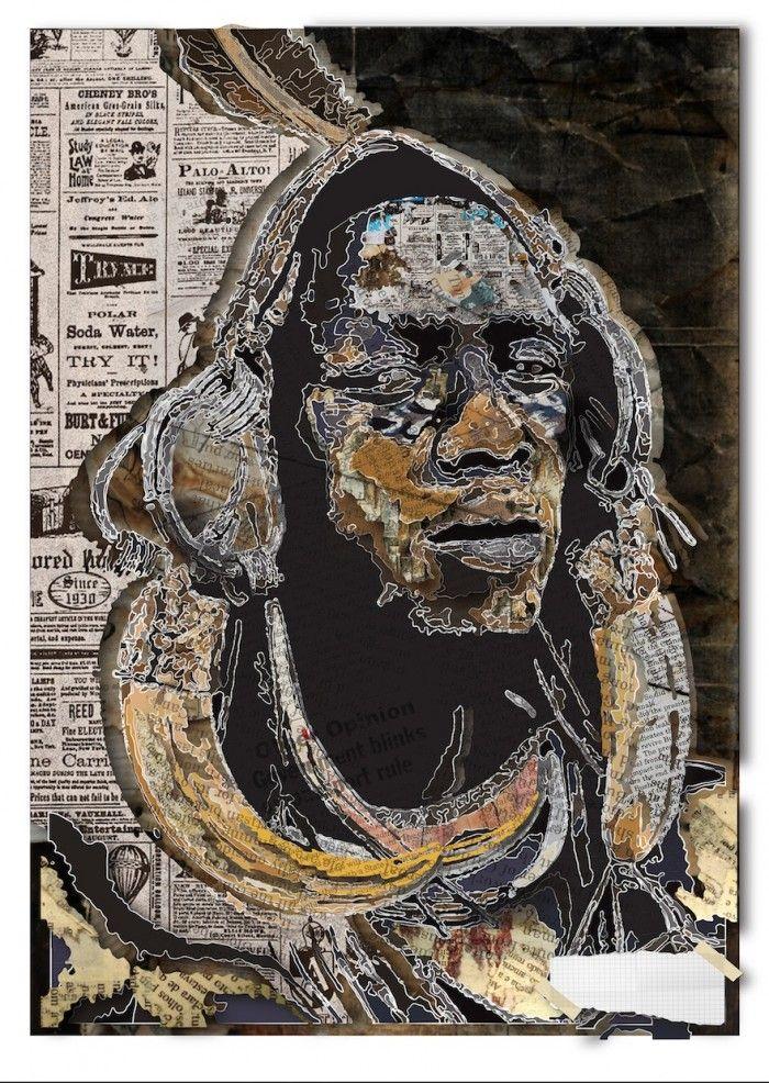 Illustrator Lungile Mbokane uses earthy tones and inspiration from newsprint | Design Indaba