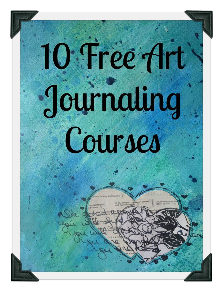 10 free art journaling courses for beginners or seasoned artists. Grab some paper and supplies and let's go!: