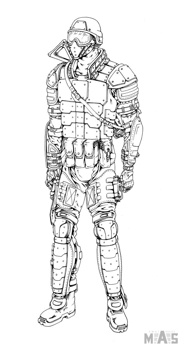 Swat Team Coloring Pages Google Search Swat Sketches
