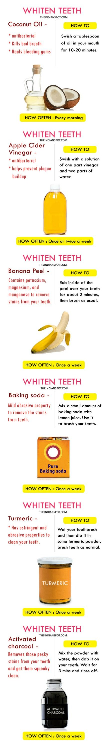 Whiten teeth recipe.