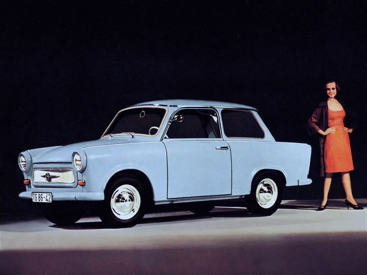 This is a Trabant 601 that was sold in East Germany in 1963. Press Photo.
