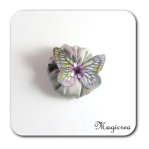FLEUR PAPILLON SOIE - LAVANDE - FP2 - Boutique www.magicreation.fr