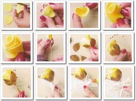 como hacer pimpollos de rosa de foamy goma eva