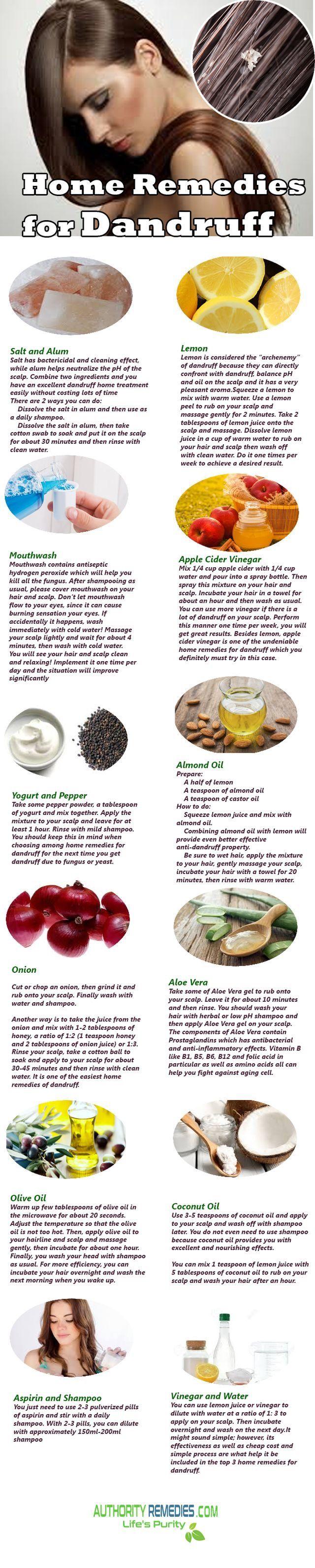 Home Remedies for Dandruff.