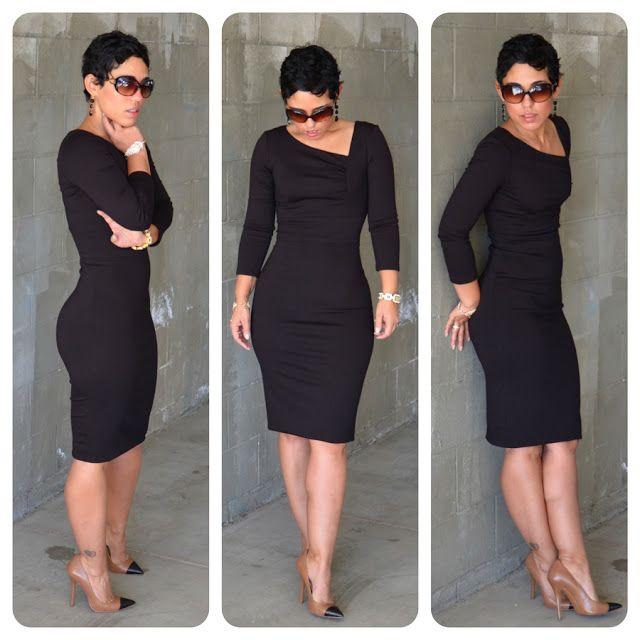 Freakin FANTASTIC DRESS!! DIY VaVaVoom Dress + Pattern Review Vogue 8787