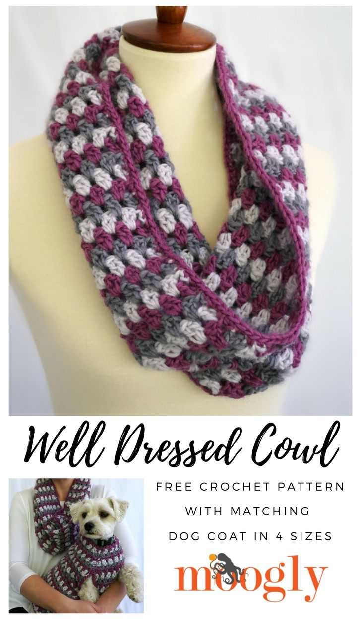 409 best moogly designs images on pinterest crochet free well dressed cowl and matching well dressed dog coat free crochet patterns on bankloansurffo Gallery