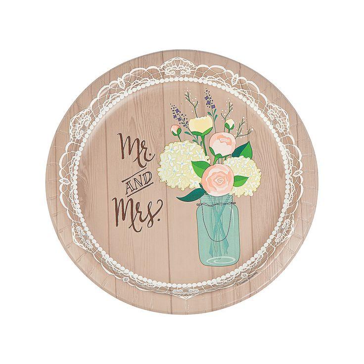 Rustic Wedding Dinner Plates - OrientalTrading.com