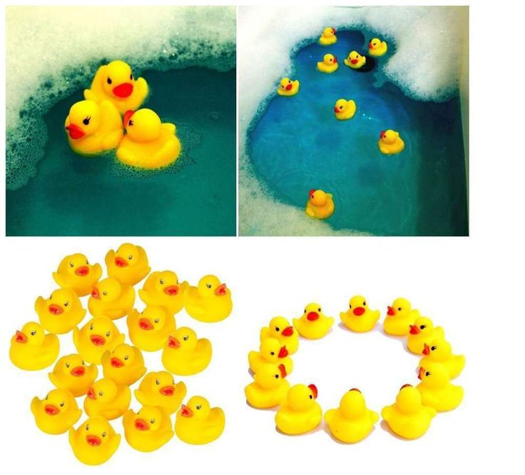 Rubber Ducky Duck Floating Set Baby Shower Bath Yellow Duckies Toy Kids Tub 12Pc #NoveltyPlace