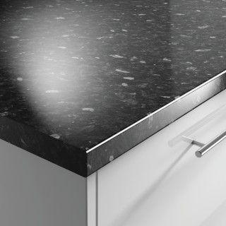 Black Slate Gloss 38mm Worktop | Benchmarx Kitchens & Joinery