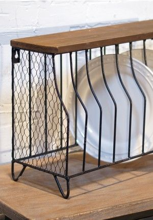 Metal Plate Rack - I would hang this on the wall instead of using it as & 70 best dish organizer images on Pinterest | Dish drainers Dishes ...