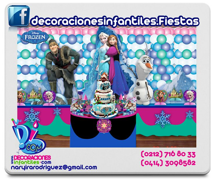 Frozen Birthday Party Ideas #FROZEN FROZEN #IDEAS DECOR PARTY KIDS FROZEN