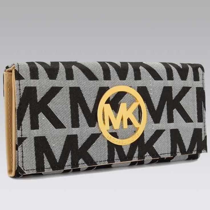 MICHAEL Michael Kors Continental Logo Cool gray Wallet