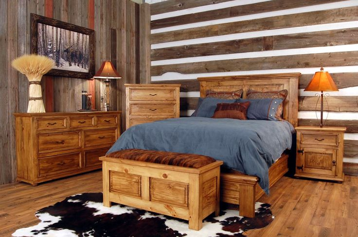 Bedroom : The Wondrous Rustic Bedroom Design Along With Rustic Bedroom Storage Bench As Well As Navy Blue Bed Cover Sets Together With Decorative Pillows Furthermore Rustic Makeup Vanity The Careful Consideration for the Bedroom Storage Bench Headboard. Shelving. Cushion.