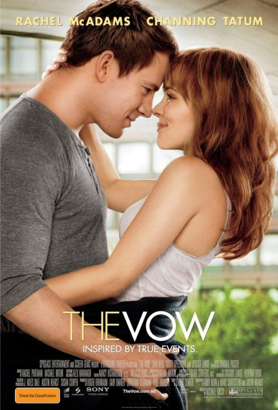 """The Vow (4 stars) Sad story of lost memories and trying to reignite love. Well acted by Tatum and McAdams - huge fan of hers. The ladies in the house were bawling (qualifying this as a """"chick flick""""). The characters are likeable and you could feel the connection and subsequent disconnection after the accident. Great movie to share with the lady in your life."""