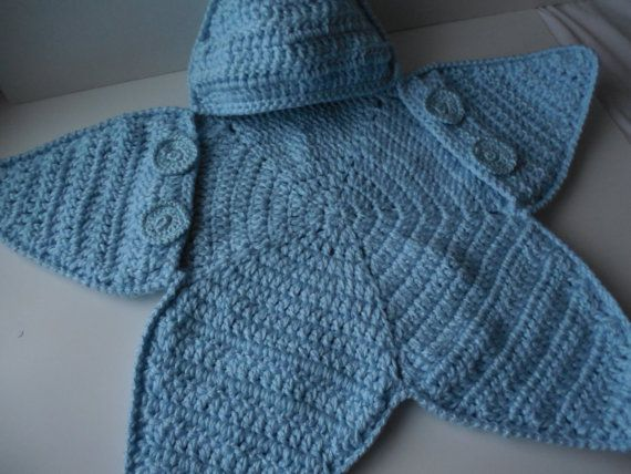 Free Crochet Pattern Bunting Bag : Baby Bunting Bag - Blue Star Bunting - Crochet Bags ...