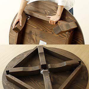 Amazon|丸テーブル家族で囲めて木の暖かみある 本格木製ちゃぶ台 直径90cm丸 簡単折りたたみ式|ローテーブル・ちゃぶ台 オンライン通販