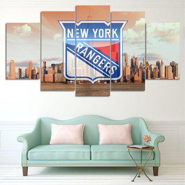 New York Rangers Team HD Print Canvas