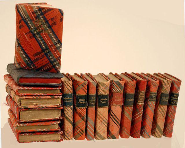 Vintage tartan plaid books of love...