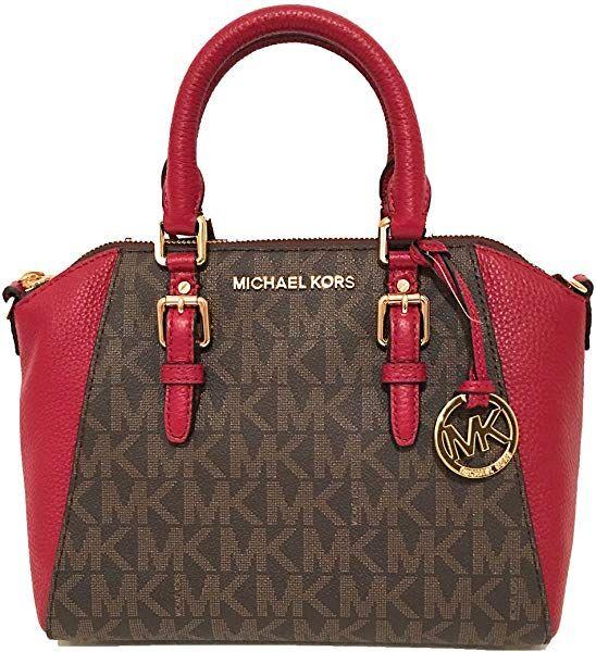 81b62a658d7d05 Amazon.com: Michael Kors Women's Ciara Medium Messenger Bag Brown Cherry:  Shoes