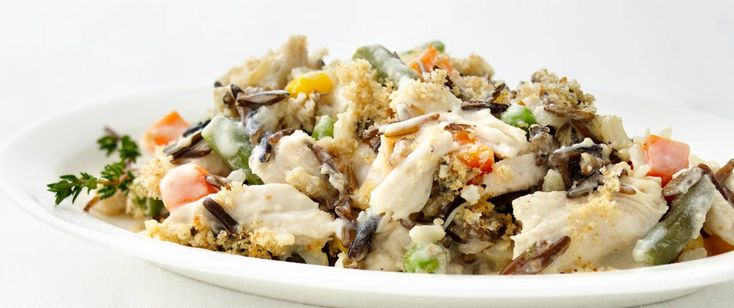 Turkey and Wild Rice Casserole No one will complain about turkey leftovers in an easy-to-make homemade casserole.