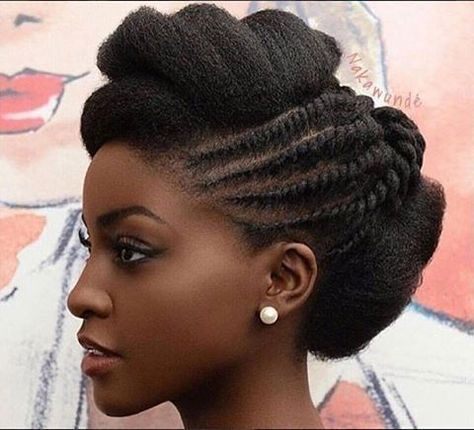 2017 Wedding Hairstyles For Black Women 16✖️More Pins Like This One At FOSTERGINGER @ Pinterest✖️