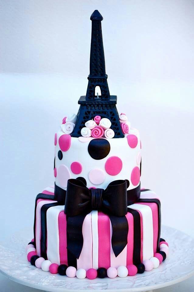 Cute Paris cake! I think I'm on love!!!!