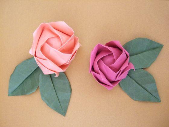 DIY Kawasaki Rose: Paper Rose, Origami Roses, Papercraft, Rose Tutorial, Paper Flowers, Origami Flower, Paper Crafts, Diy