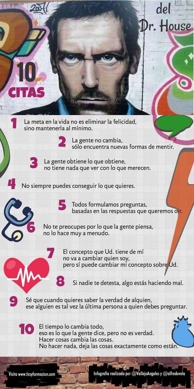 10 citas célebres del Dr. House #infografia