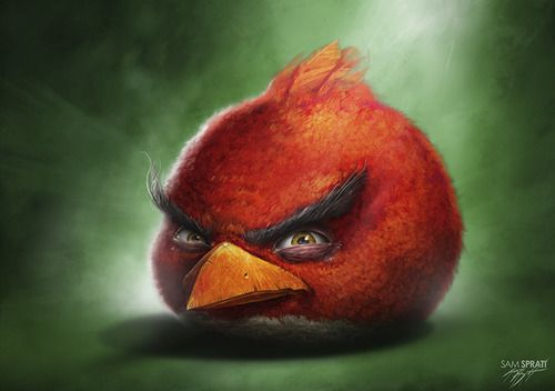 Incredible series of realistic Angry Birds illustrations by artist Sam Spratt!