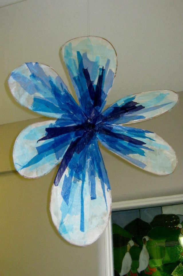 Tissue Paper And Cling Film Craft