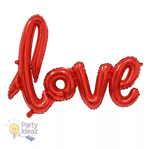 Our Red Love Balloons would provide stylish Wedding balloons or Engagement Party Decorations. A 40th Anniversary Party with the Ruby theme would look great decorated with these Red Love Script Balloons. Other ideas would be to use them on Valentines Day, Bridal Showers and of course the Proposal. They are even reusable so you could use them throughout your entire Love journey.  Our Red Love Balloons are approximately 40 in size. They dont require helium filling as they will not float but…