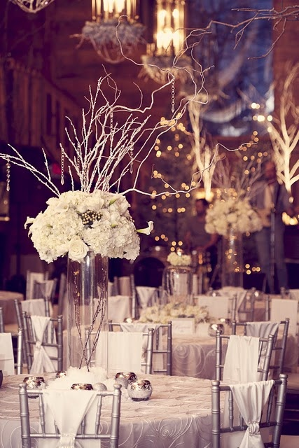 the CENTERPIECES {Over 3,000 fresh floral stems were shipped in from all