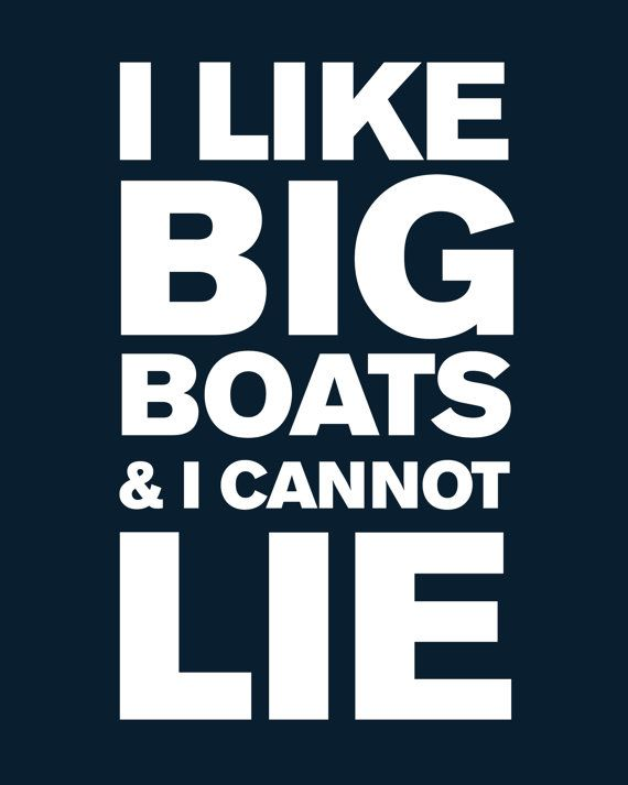 Framed Wall Art Print with Boat Cleat I Like Big by ProjectCottage