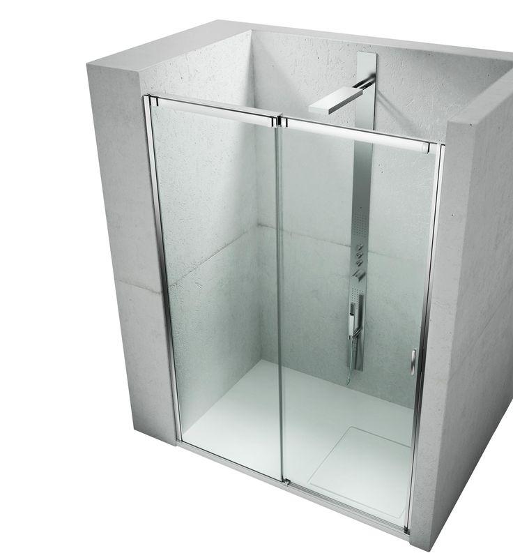 Slide collection Vismaravetro L'impiego del cristallo temperato 8 mm e il nuovo progetto per il telaio in alluminio offrono un'ottima capacità di tenuta all'acqua, insieme alla consueta praticità dell'apertura scorrevole.