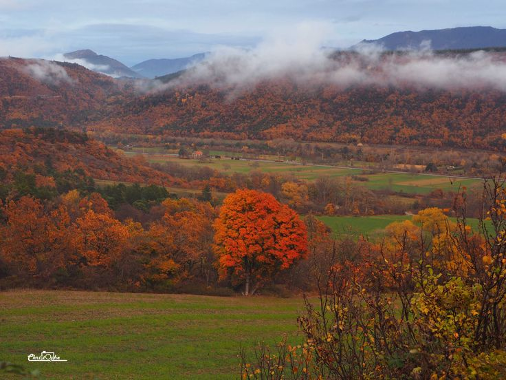 En aval d'Aspres-sur-Buëch en automne. #buech #PACA