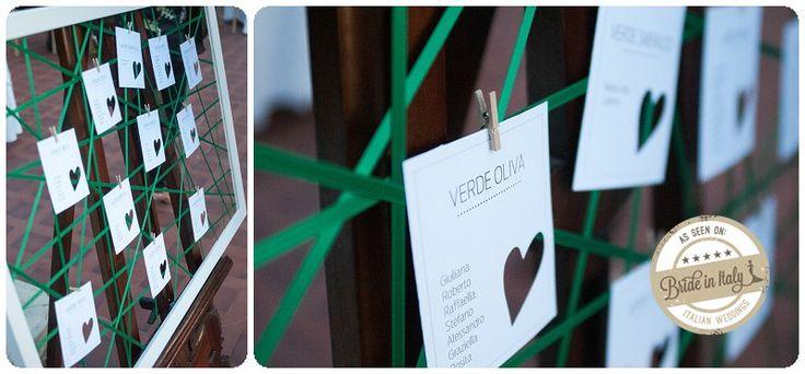 Cool, hanging seating chart by LaPelagallina.it,  ph Stefano P. Tonucci #italianstyle http://www.brideinitaly.com/2013/10/tonuccipelagallina.html #diy #tableau #wedding