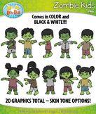 FREE Zombie Kid Characters Clipart {Zip-A-Dee-Doo-Dah Designs}