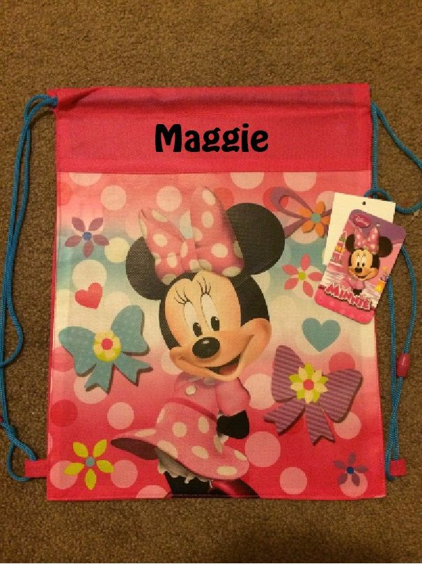 Disney MINNIE MOUSE Drawstring Backpack Sling Bag – Personalized by CACBaskets on Etsy