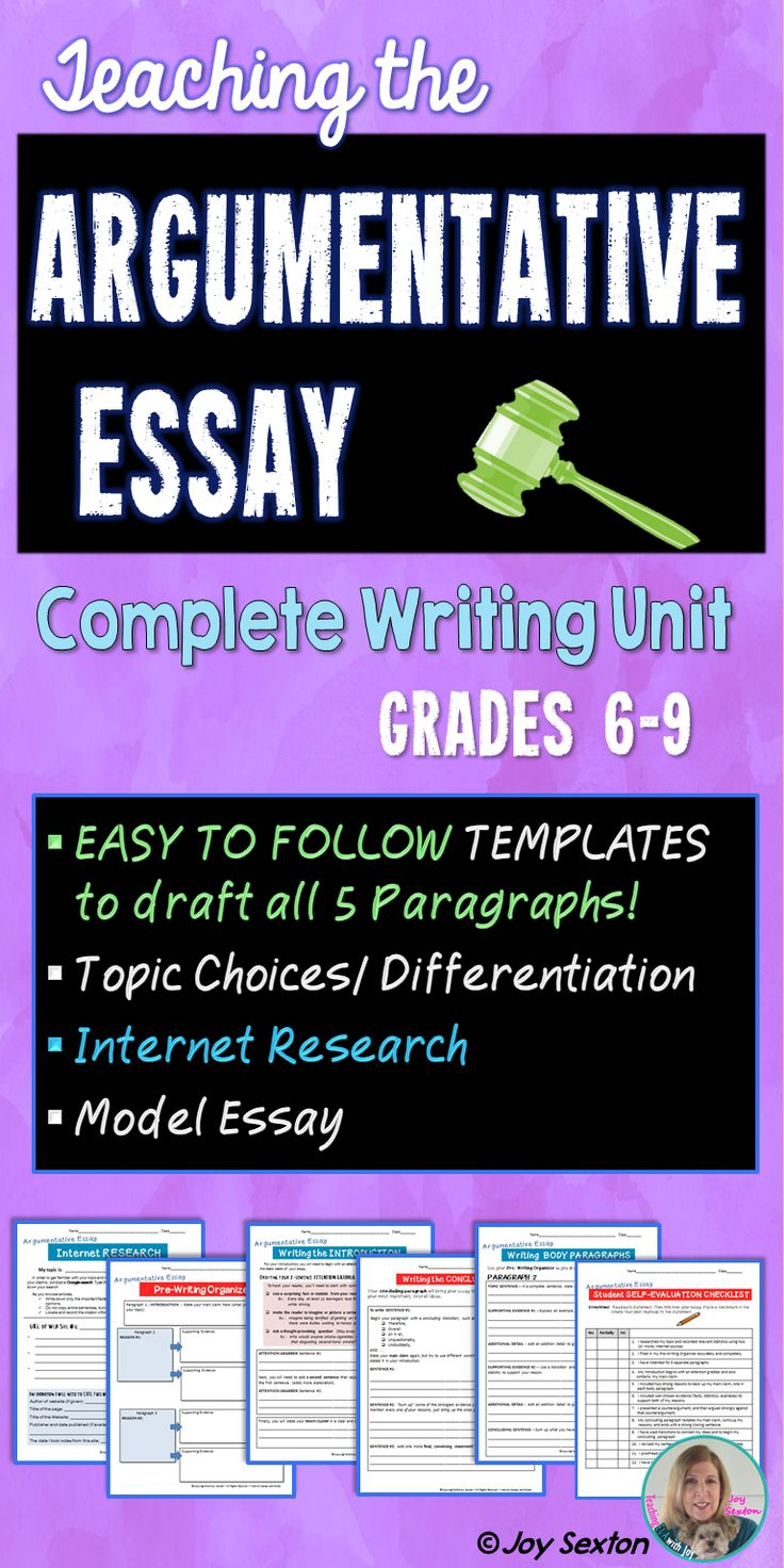 Argument writing will be a breeze with this step-by-step resource designed to lead your students with models and supports through the entire process. Easy-to-follow writing templates guide students in drafting all five paragraphs! Includes a sample essay, rubric, and everything else you'll need to teach an argumentative essay unit.