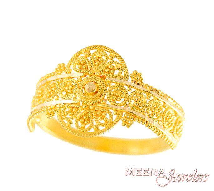 22kt gold indian ring rilg2936 22kt gold ring indian
