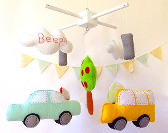 Baby Crib Mobile / Baby Boy Mobile / Cars Baby Mobile / Transportation mobile / Boy Nursery Mobile / Baby Boy Nursery Mobile / Make your Own