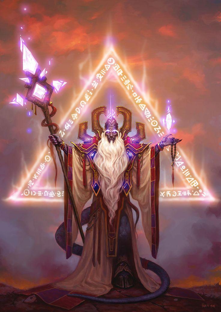 Warcraft Fan Art Gallery - High Prophet Velen  Illustration de Wei Wang