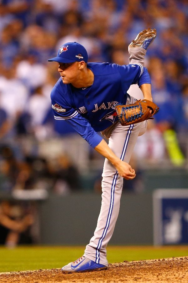 Aaron Sanchez, TOR///Game 6 ALCS at KC, Oct 23, 2015 [jamie squire/getty images]
