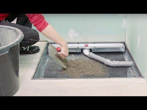 Version 2013 Bodengleiche Dusche einbauen: Linienentwässerung - Kapitel 3: Fliesen | - YouTube