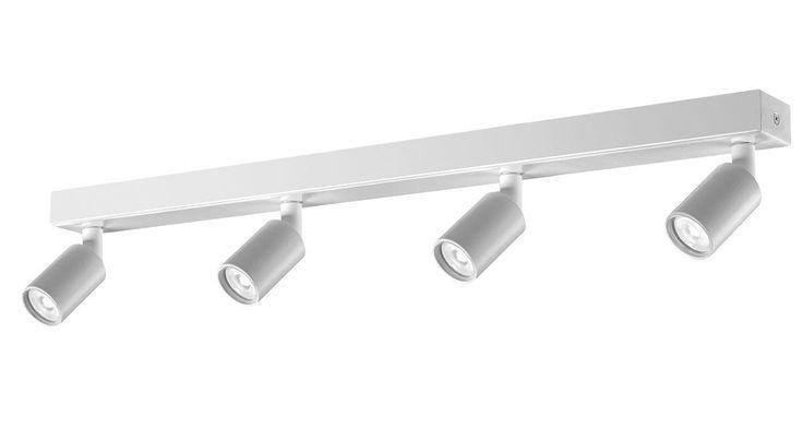 X4 | Apparecchio a soffitto Ø 40 mm, con 4 proiettori orientabili e finitura bianca o nera