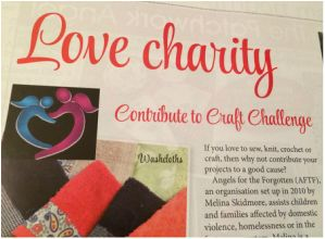 How exciting!! Read all about our Annual Craft Challenge in Issue 7 of Love Sewing Australia magazine! #angelsfortheforgotten #charitysewing