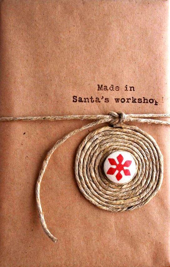 #Christmas gift wrapping ideas ToniK ⓦⓡⓐⓟ ⓘⓣ ⓤⓟ Rustic Scandinavian DIY Santa's workshop Cosmo Cricket