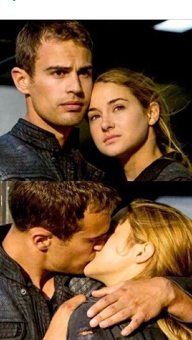Four Tris----they kissed a lot more in the book and kissed in front of people and Tris called Tobias her boyfriend OH and what happen to the pain in her arm after she got shot in the movie????????????