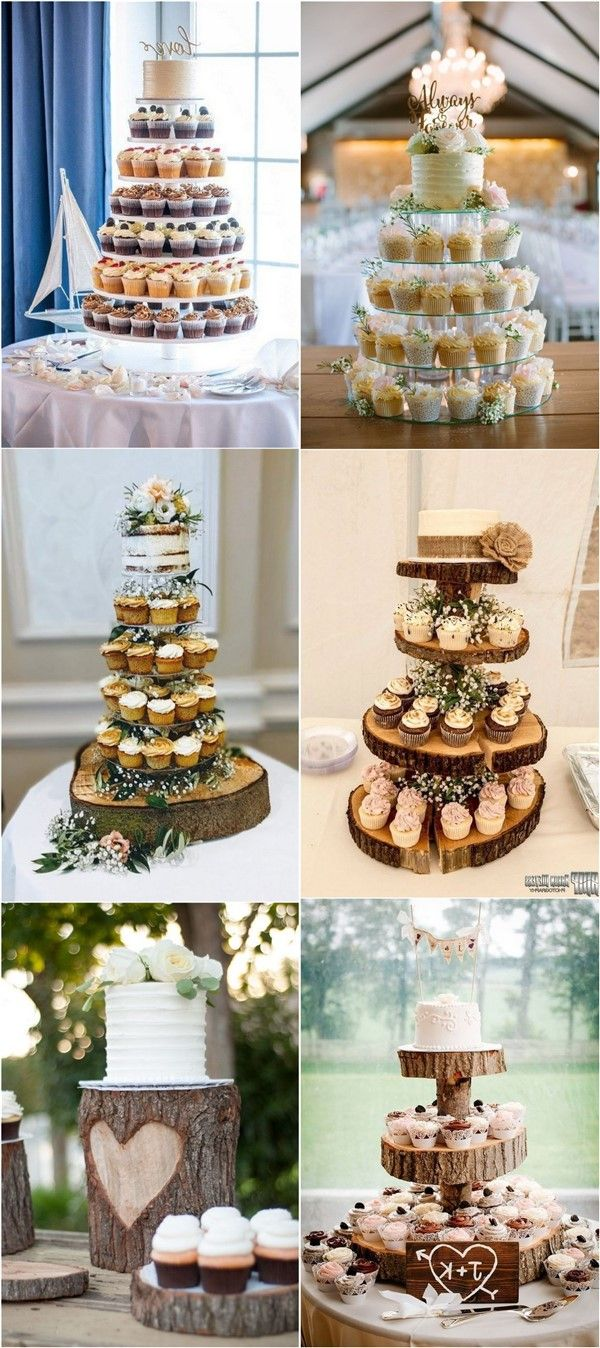 20 Wedding Cake Ideas With Cupcakes in 2020 Wedding